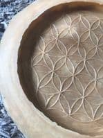 Latex Mould to make Round Flower of Life Wall Plaque